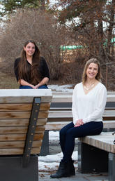 Left to right: Ryynn Rathwell, Natasha Werbicki and Colleen Jackson, Mmgmt students and finalists